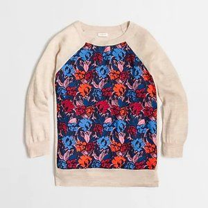 SILKY FRONT J.CREW 3/4 SLEEVE SWEATER
